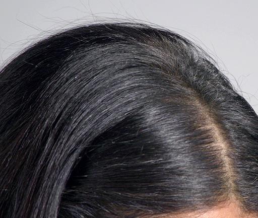 racine femme avant la poudre de cheveux
